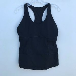 Lululemon Racerback Tank Top Black 10 #1335